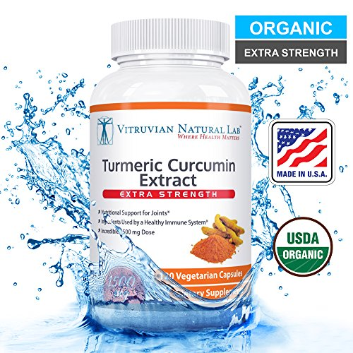 Turmeric Curcumin – Advanced Extra Strength (Organic Compliant) – Vegan 100% Natural – 1500mg/serving – With BioPerine Black Pepper Extract -120 Capsules (Veggie) – Strongest Available in the Market