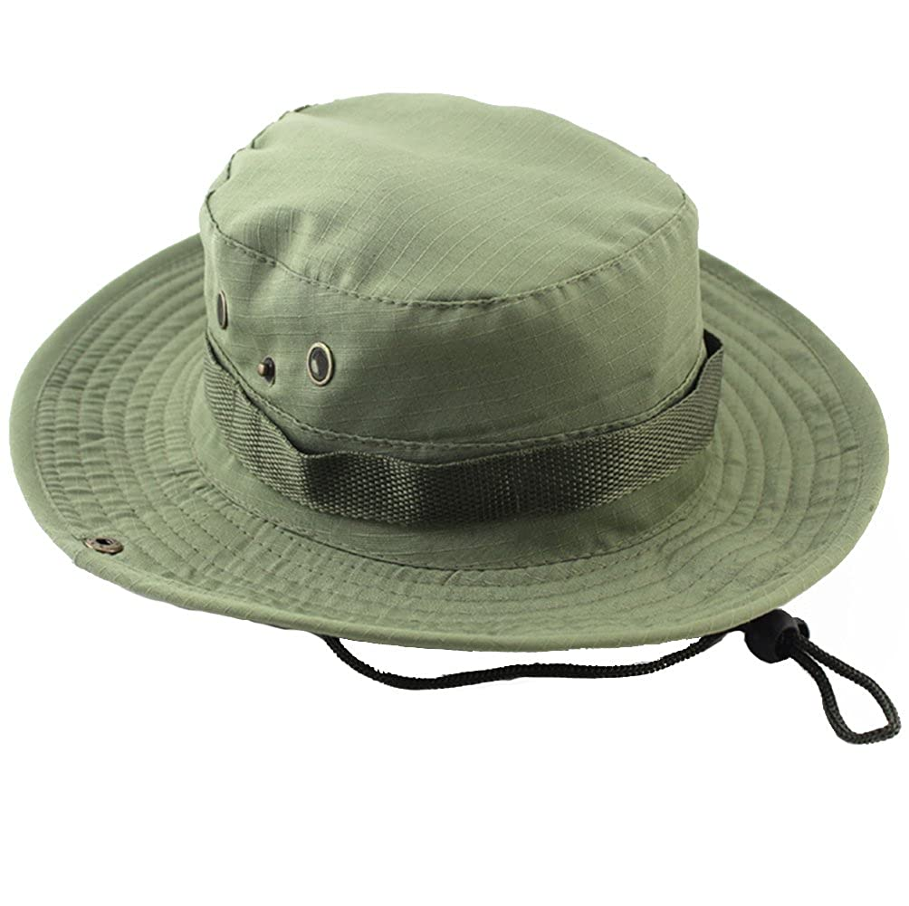 315a7d3c5cefb ACHIEWELL Men s Fishing Camo Hat Gardening Outdoor Sun Cap (Pale Green) at  Amazon Men s Clothing store