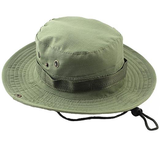 ACHIEWELL Men\'s Fishing Camo Hat Gardening Outdoor Sun Cap (Pale ...