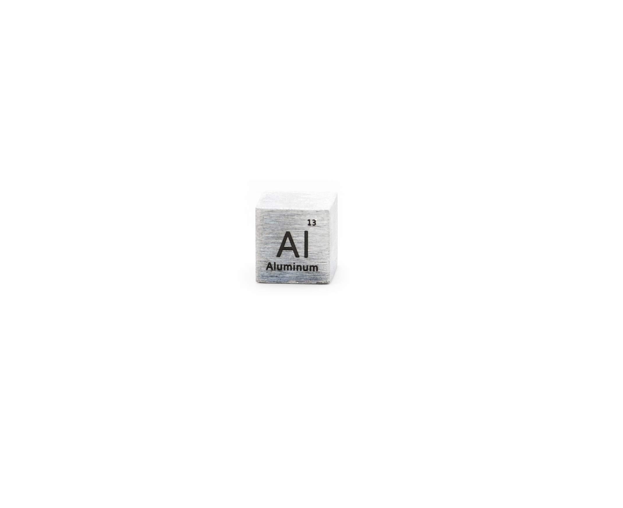1 Inch Aluminum Metal Density Cube 99.99% Pure