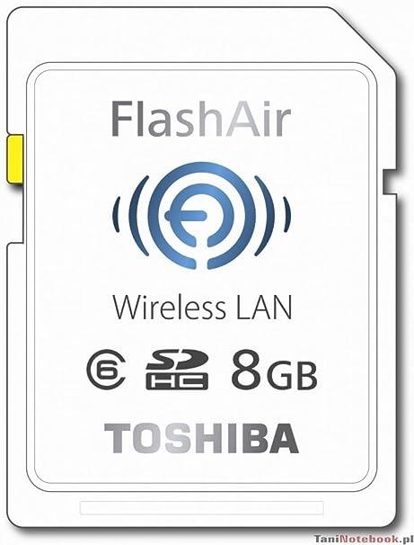 Toshiba FlashAir SD - Tarjeta de Memoria de 8 GB (con Wireless LAN)