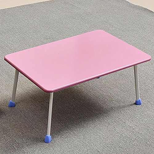 KSUNGB Laptop desk Bed Writing desk Small table Multifunction Foldable Dorm room Lazy People Desk Horseshoe-shaped Table legs, Pink by KSUNGB