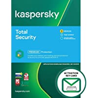 Kaspersky Total Security 2021   3 Devices   1 Year   PC/Mac/Android   Activation Key Card by Post with Antivirus…