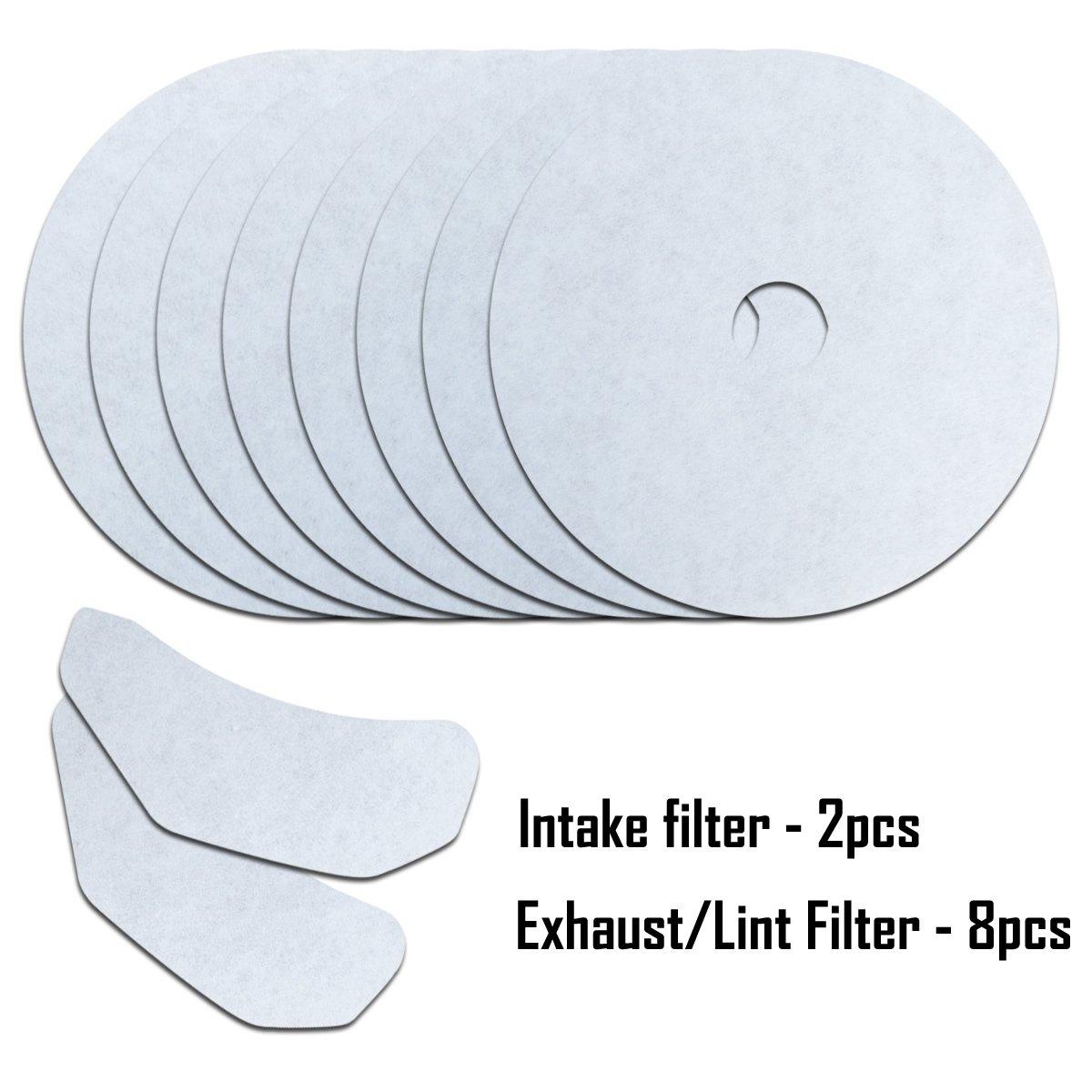 CTT 10Pack Universal Cloth Dryer Exhaust Filter Set Replacement for Panda/Magic Chef/Sonya/Avant