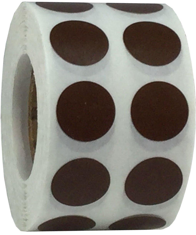 1000 /Étiquettes sur un Rouleau 13 mm 1//2 Pouce Ronde Hologramme Noir Cercle Point Autocollants