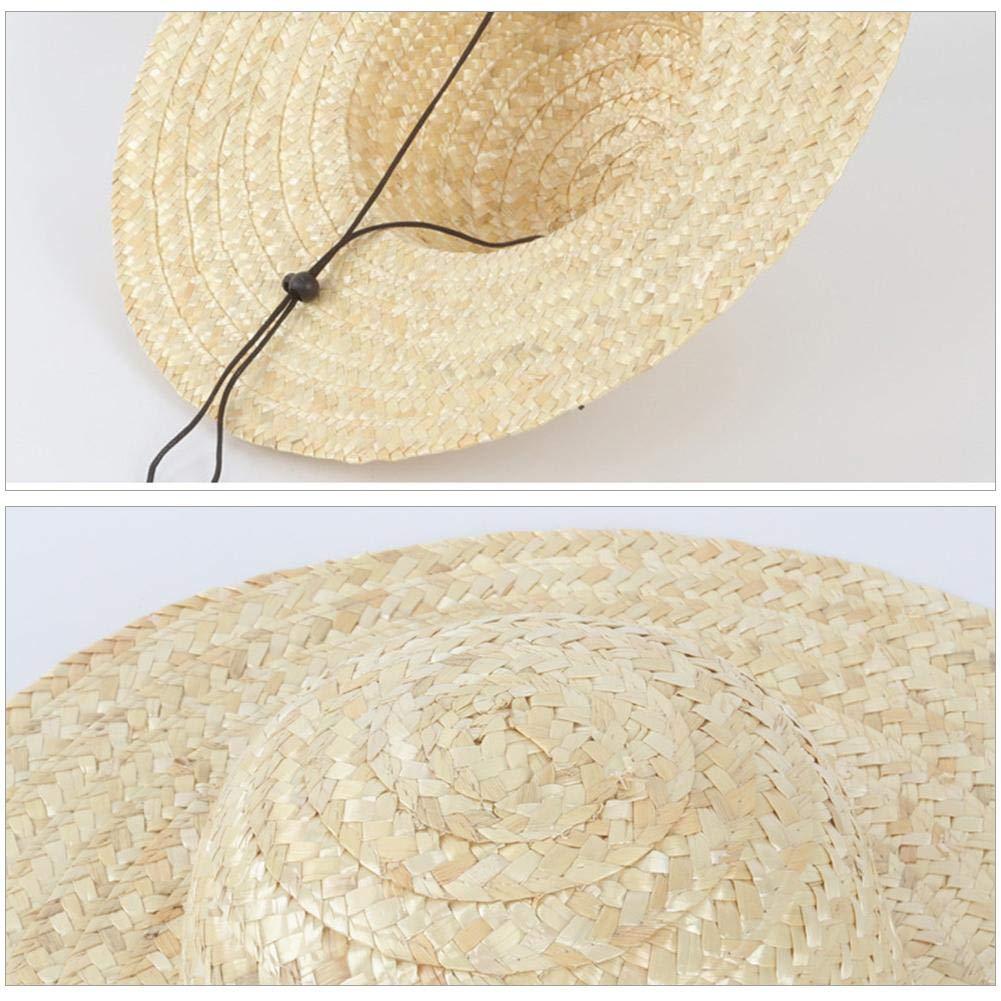 Tejido de Trigo Visera para Hombres Betteros Sombrero de Paja para Hombres de Estilo Pastoral para Suministros de Verano