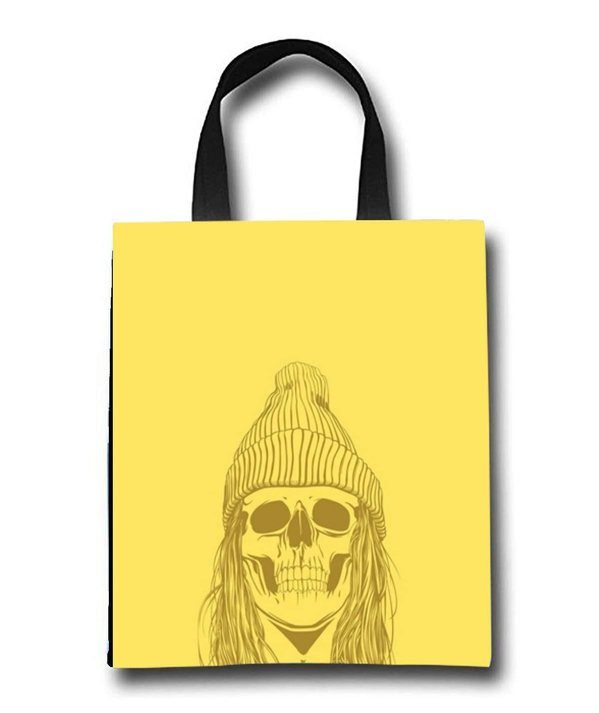 Skull Hat Beach Tote Bag - Toy Tote Bag - Large Lightweight Market, Grocery & Picnic