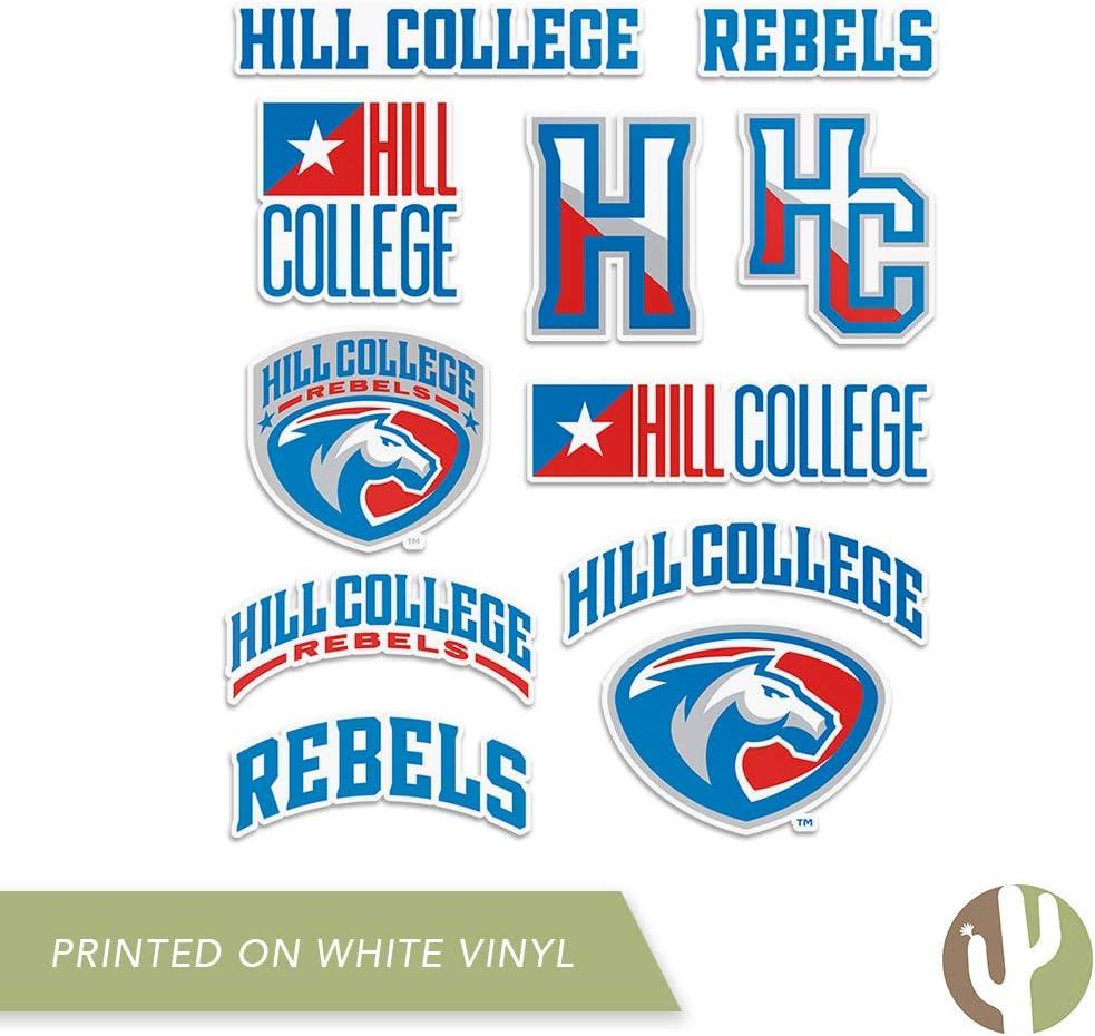 Type 2 Sheet Hill College Rebel NCAA Sticker Vinyl Decal Laptop Water Bottle Car Scrapbook