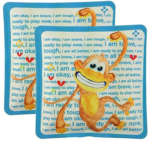 (Me4kidz Cool It Buddy Reusable Ice Pack, 2 Pack, Monkey)