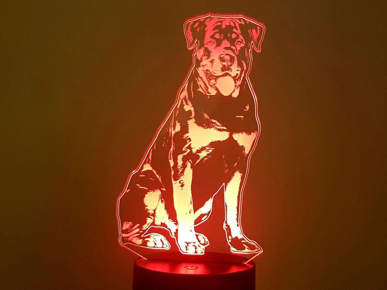 Rottweiler, 3D-Lampe LED