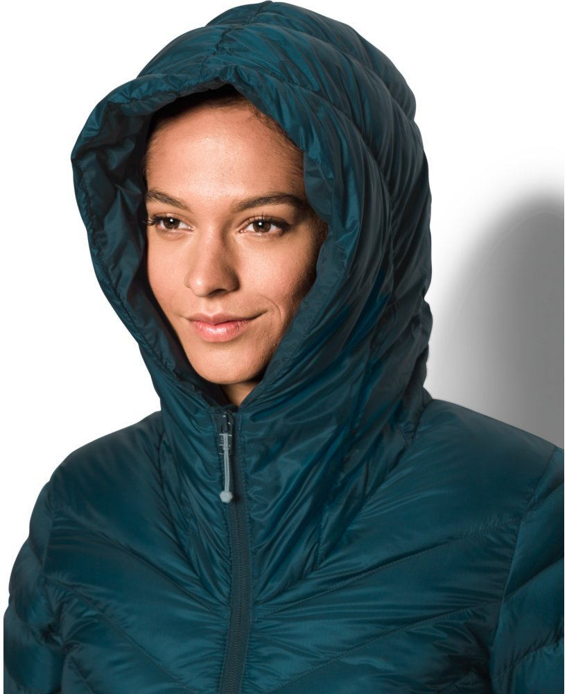 Under Armour Women's Storm ColdGear Infrared Uptown Parka, Nova Teal/Aqua Falls, Small by Under Armour (Image #4)