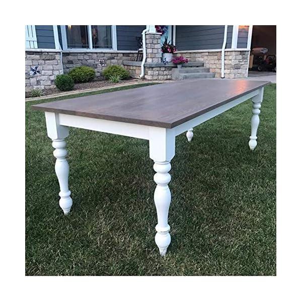 "CAROLINA LEG CO. Chunky Farmhouse Table Legs - Unfinished - DIY Furniture - Turned Legs - Set of 4 - Dimensions: 3.5"" x 29"""