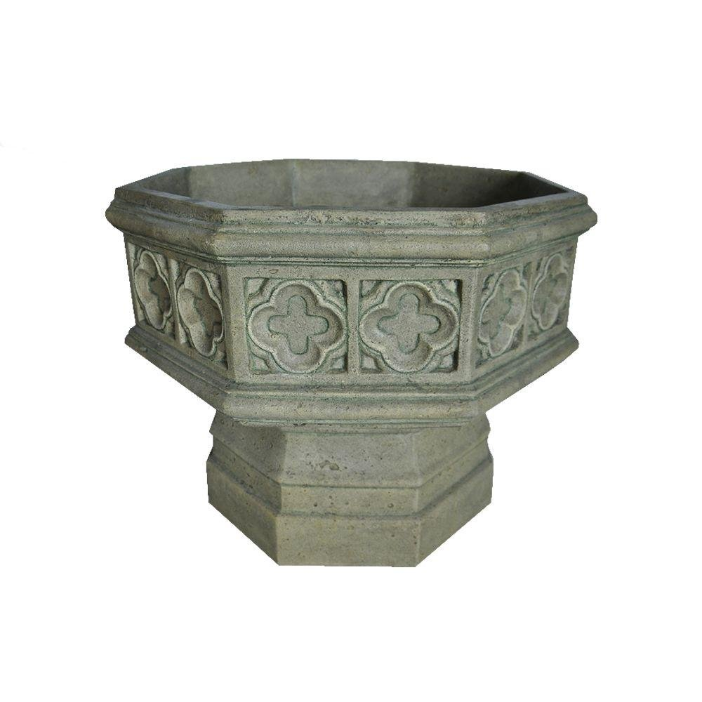 MPG 19.5 in. H Granite Cast Stone Gothic Urn by MPG Sport