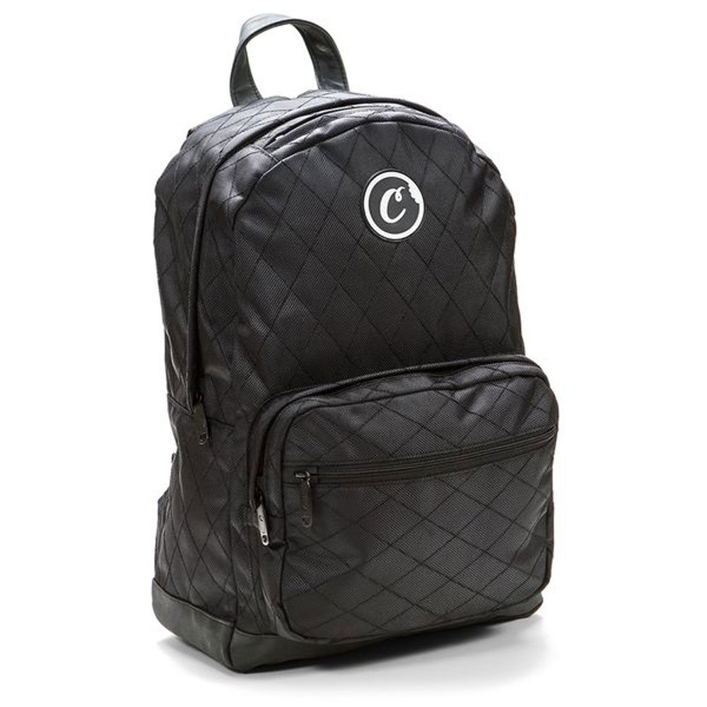 COOKIES V2 1680 QUILTED NYLON SMELL PROOF BACKPACK W/ POUCH CASE (Black, One_Size)