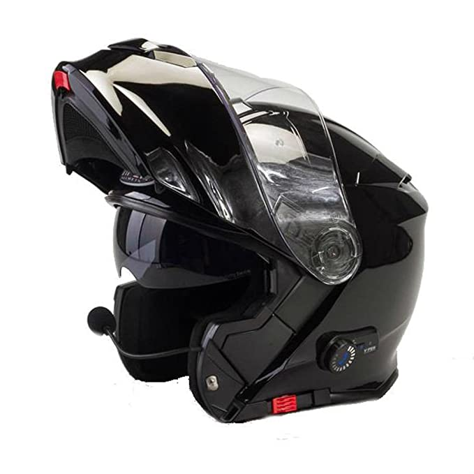 Viper Tapa Frontal para Casco de Moto RS V171 Bluetooth Moto Scooter Touring Modular Casco de