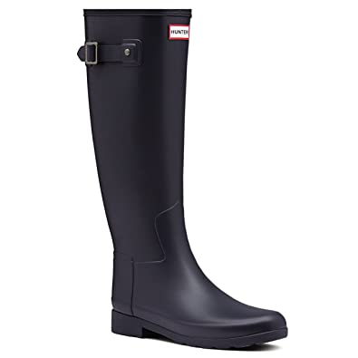 Hunter Womens Original Refined Waterproof Snow Wellingtons Rain Boots   Navy  11