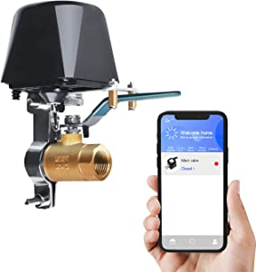 Smart Water Valve, Automatic Water Shut Off Valve Timer and Voice, Wifi Sprinkler Controller for Valves up to 1.5 Inches, Compatible with Alexa Google, APP Remote Control(ordinary)