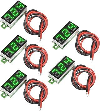 "10PCS 3 Wire Mini DC 0-100V 0.28/"" 3-Digit Voltmeter LED Voltage Panel Meter"