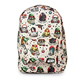 Loungefly Star Wars Tattoo Flash Print Backpack STBK0004 Black-White
