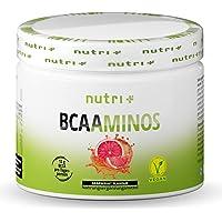BCAA-PULVER Grapefrukt – Aminosyra-komplex med hög dosering - Veganskt BCAA-pulver - Aminosyrapulver - 2: 1: 1 L-leucin…