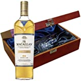 Macallan Double Cask Gold Whisky In Luxury Box With Royal Scot Glass