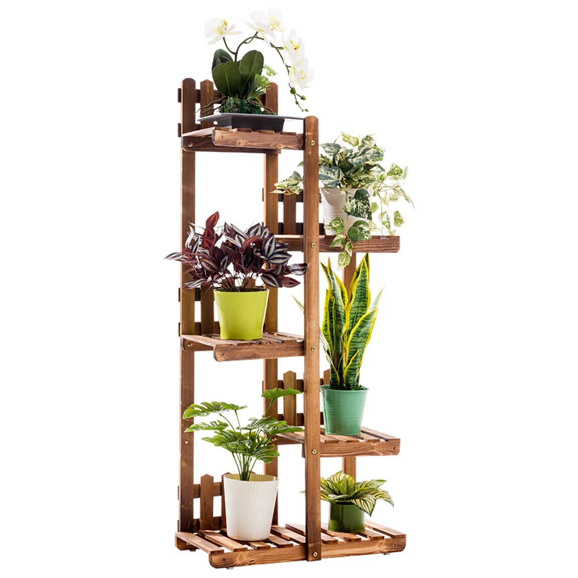 LRW Solid Wood Flower Rack, Green Lounge, Multi Floor Flower Pot, Meat Balcony, Living Room Flower Rack.
