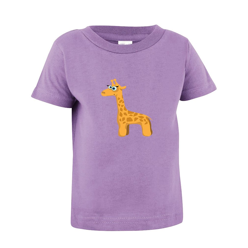 Giraffe With Lashes Toddler Baby Kid T-Shirt Tee 6 Mo - 7T TTANM0250_LA2T
