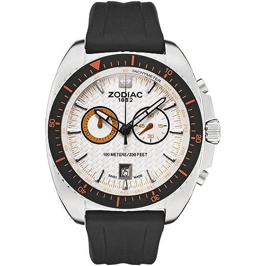 Zodiac ZO5523 - Reloj para hombres, correa de goma color negro: Amazon.es: Relojes