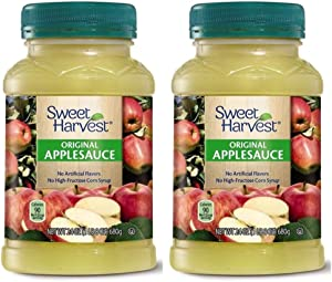 Sweet Harvest Natural Original Applesauce Made from 100% Real Fruit - 2 Count (1 lb 8 oz.)
