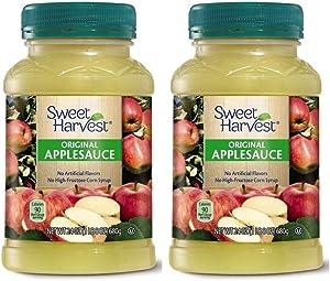 Sweet Harvest Natural Original Applesauce Made from 100% Real Fruit - 2 Count (1 lb 8 oz.)