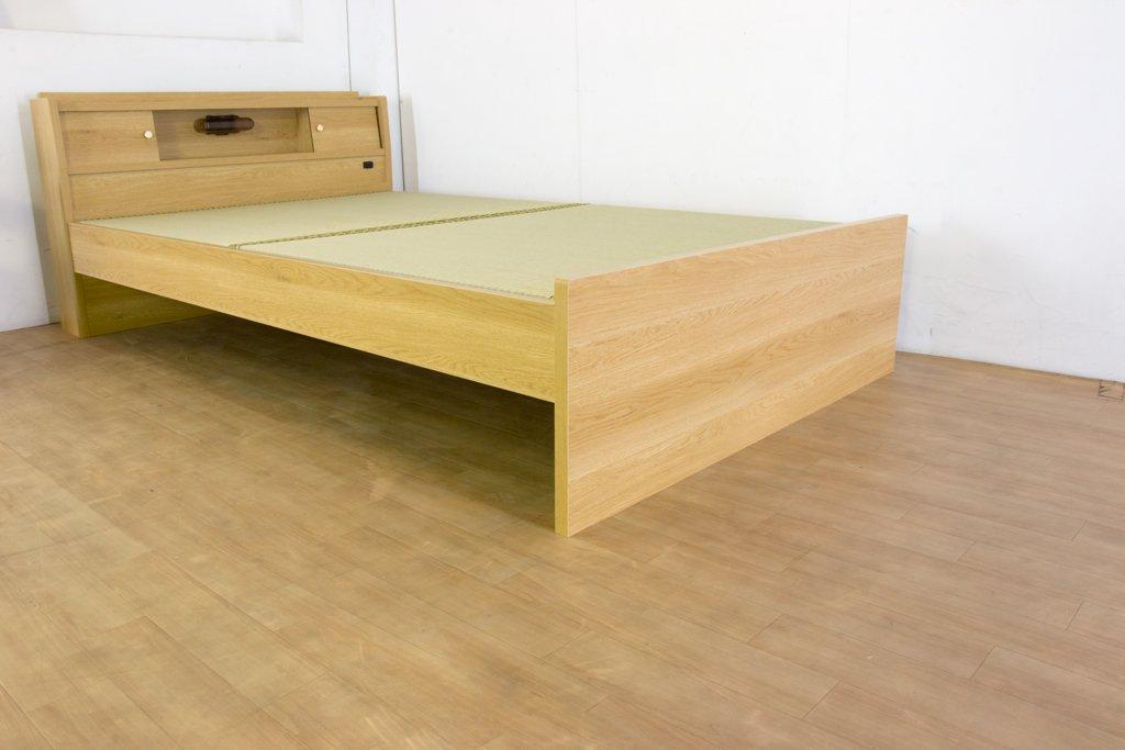 日本製 高さが3段階で調整できる 畳ベッド シングル ダークブラウン B06XR9LCNW