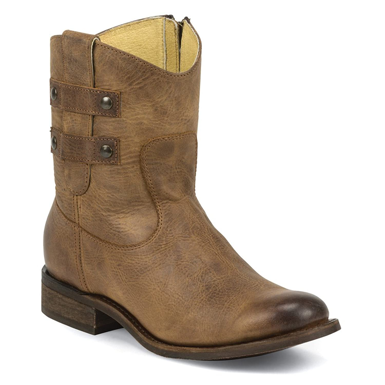 MSL105 Justin Women's Fashion Stud Casual Boots - Oak Brown - 7.5 - B