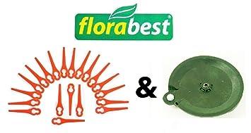 20 Cuchillo & 1 para cortar (Flora Best Lidl batería cortabordes Fat 18 B2 y