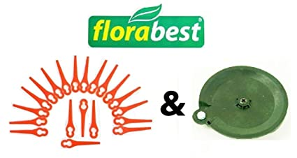 20 Cuchillo & 1 para cortar (Flora Best Lidl batería cortabordes Fat 18 B2 y Fat 18 B3 Ian 71315 86154 95940 102971 273039: Amazon.es: Jardín