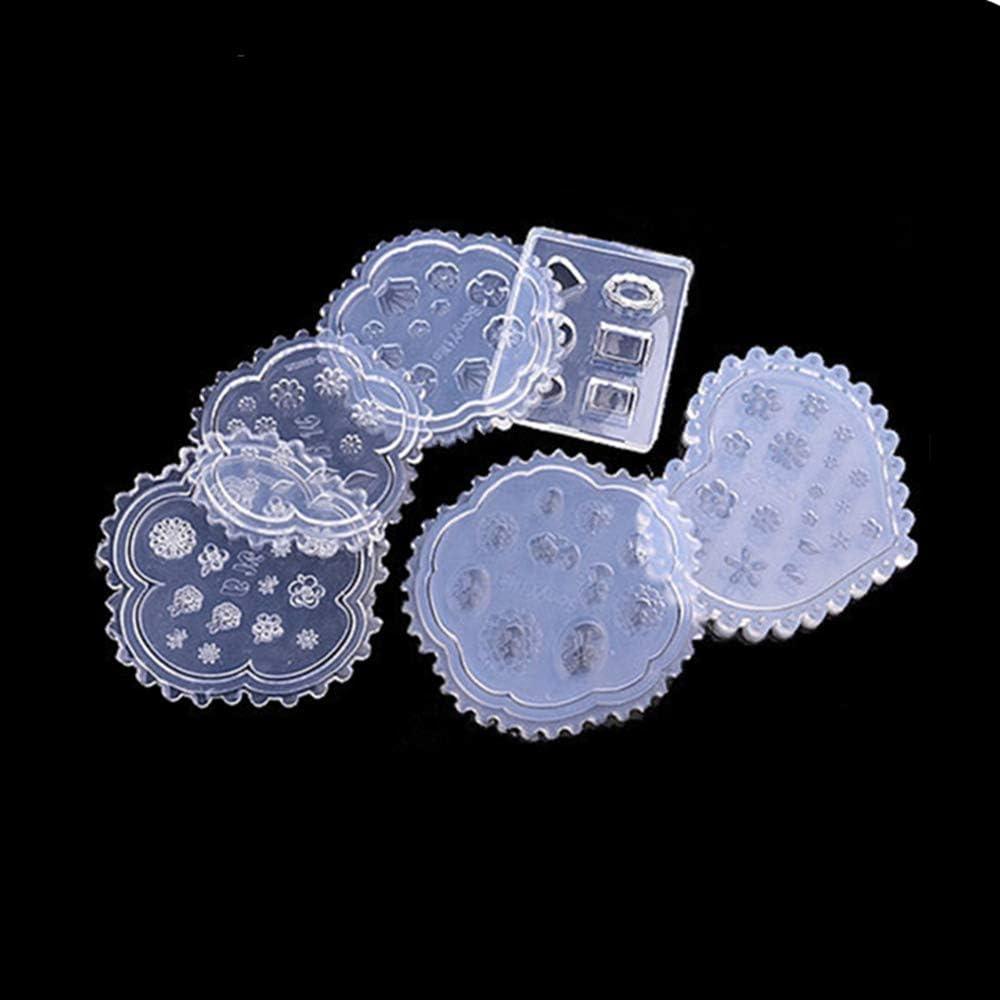 6 Moldes De Acrílico 3d Para Decoración De Uñas Diseño En Forma De Corazón Diseño De Concha De Silicona Para Uñas Manicura Belleza Uñas Tallado Molde Amazon Com Mx