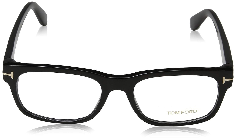 Tom Ford Mens Eyeglasses TF5432 TF//5432 001 Shiny Black//Gold Optical Frame 54mm