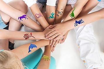Juego de tatuajes para niños con purpurina, primavera con adhesivo ...