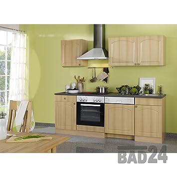 Küchenzeile Kaufen 220 Braga Inkl E Geräte Spülmaschine Buche