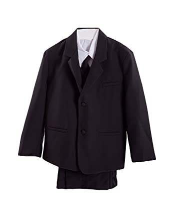 Blanco y Negro Poco niños esmoquin traje, Chaqueta, camisa ...