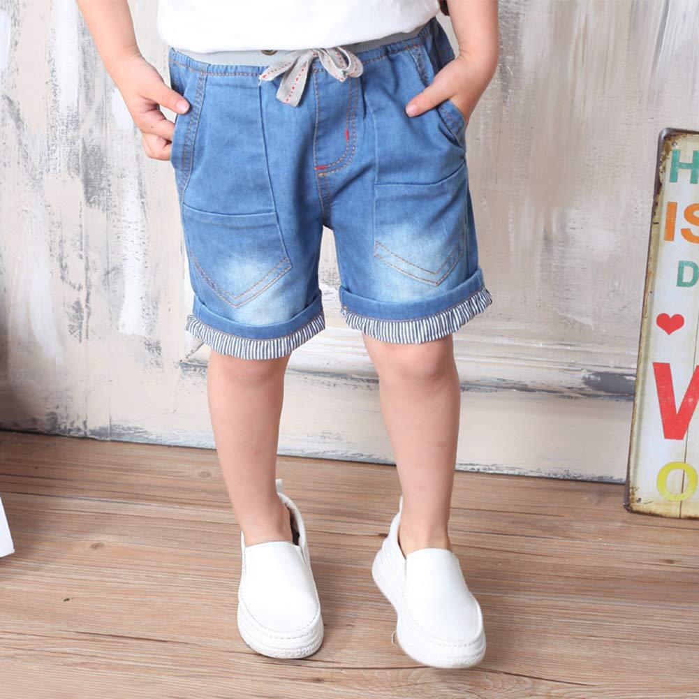 MMWORM Baby Short Jeans Pants Ripped Denim Jeans Short Pants Summer Short Trousers