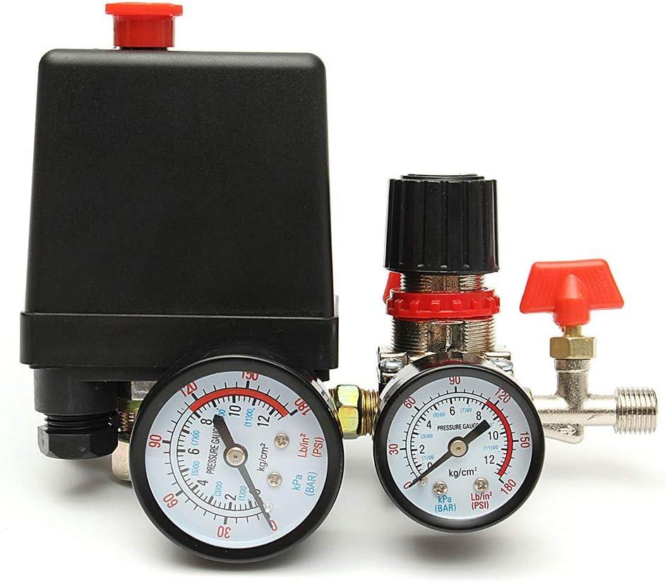 Compresor de compresi/ón Danme Interruptor de Control Ajustable de Aire y v/álvulas de compresor para Horno.