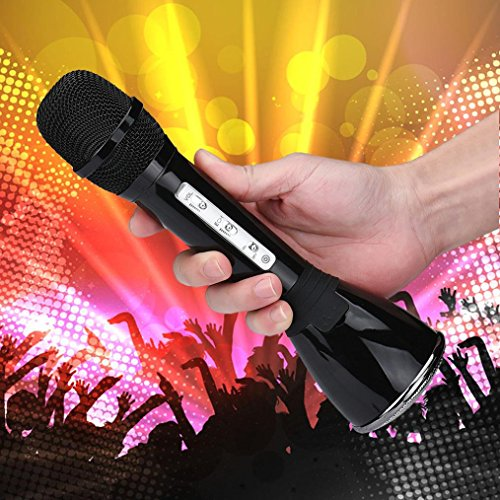 Gotd K068 Wireless Bluetooth Handheld KTV Karaoke Microphone Mic Speaker For Phone, Black by Goodtrade8