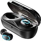 KIWI design TWS Wireless Earbuds Bluetooth 5.0 Headphones, True Wireless in-Ear Headsets Built-in Mic HiFi Stereo Sound Sweatproof Sport Bluetooth Earphones with 600mAh Portable Charging Case