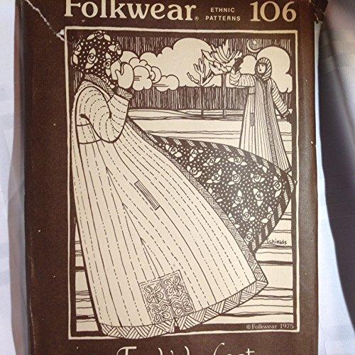 Folkwear Pattern (Ethnic Patterns) No 106- Turkish Coat - Year 1975