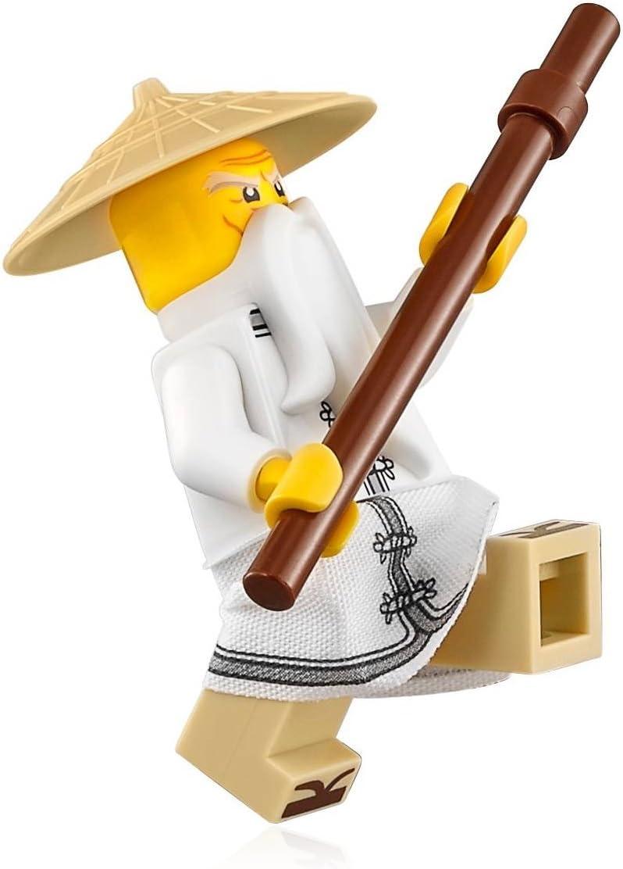 The LEGO Ninjago Movie Minifigure - Sensei Wu (w/ White Robe, Zori Sandals) 70612