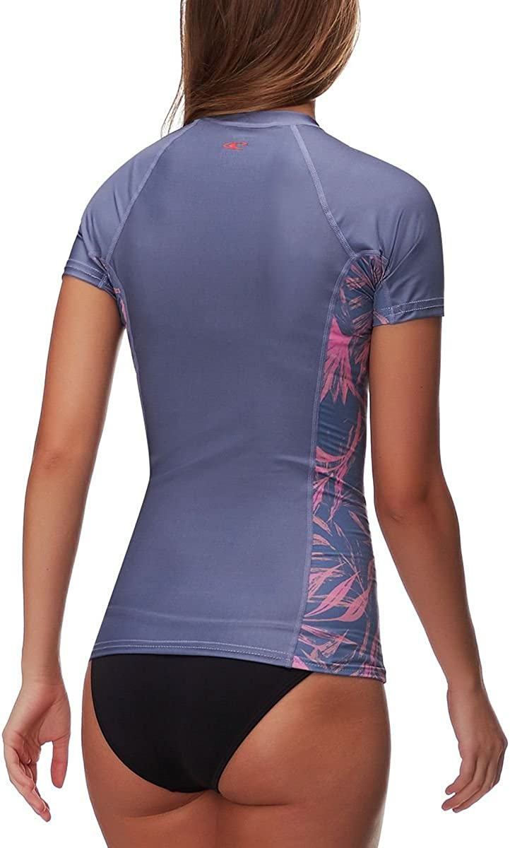 ONeill Womens Side Print Short Sleeve Rashguard