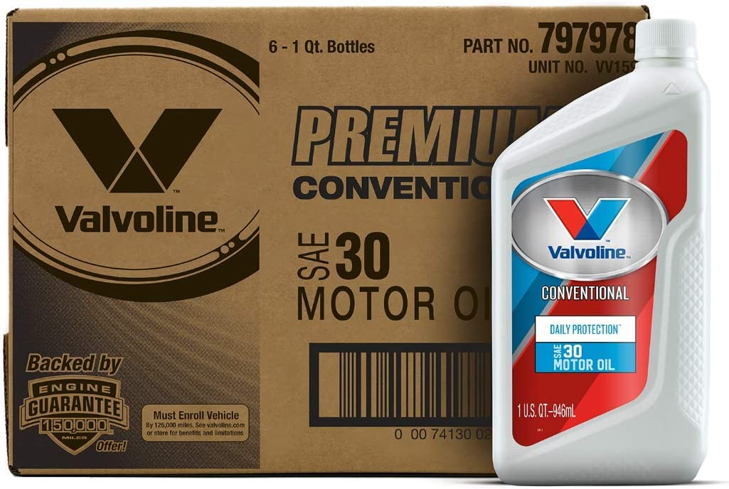 Valvoline Daily Protection SAE 30 Conventional Motor Oil 1 QT, Case of 6