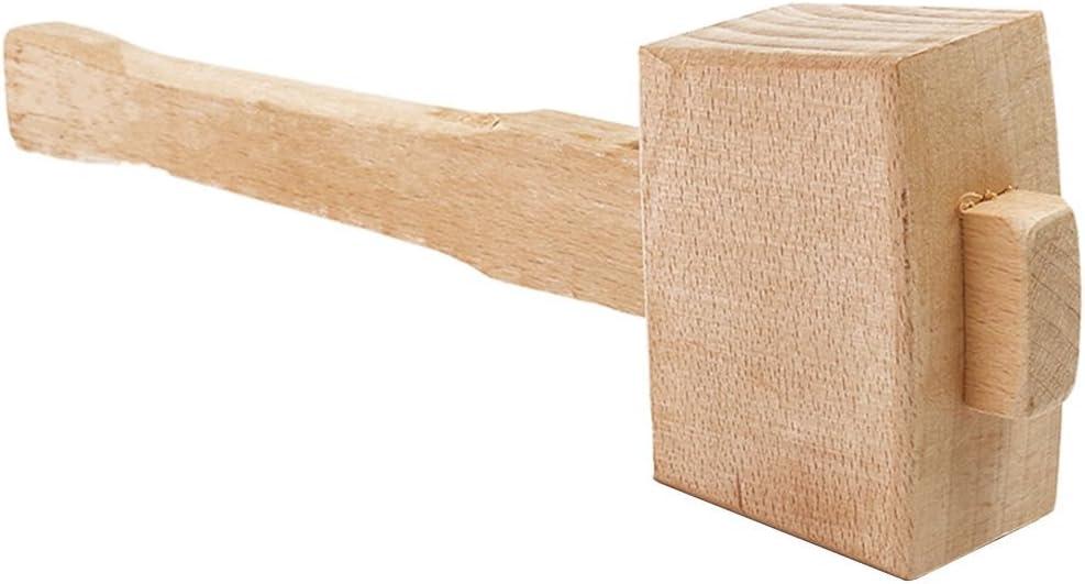 Senmubery Holzhammer aus massivem Buchenholz 250 mm