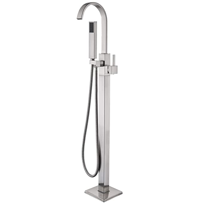 Best Bathtub Faucets: Senlesen Stainless Steel Floor Mounted Bathtub Faucet