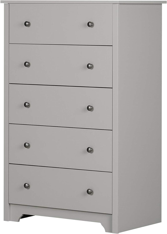 South Shore Vito 5 Drawer Chest Soft Gray Furniture Decor Amazon Com